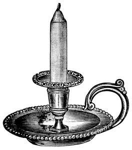 Antique Candlestick Clip Art Black And White Clip Art