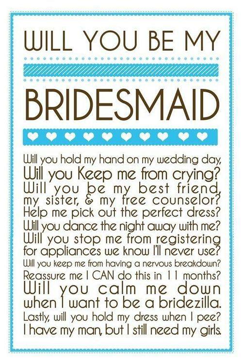 bridesmaid ideas :)