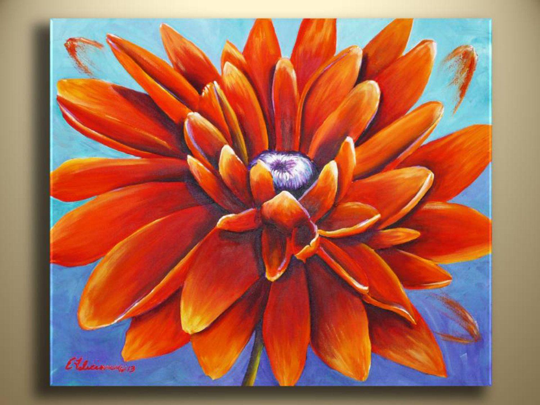 Design Art Ideas acrylic painting sunflower abstract modern contemporary art
