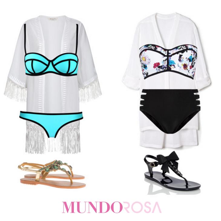 outfit playa traje de baño kimono ootd https://www.facebook.com/MundoRosaMx