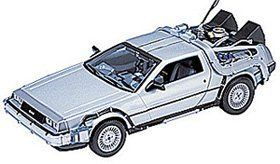 "Back to the Future DeLorean Time Machine by Wow Toyz. $19.01. Made with the Best Quality Material with your child in mind.. Top Quality Children's Item.. These highly realistic diecast metal replicas are about 8"" long, andhave opening doors andtrunks andadjustable steering."