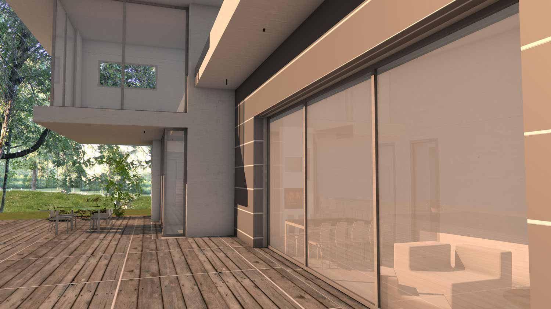atelier d 39 architecture scenario maison contemporaine casquettes et porte faux dedans. Black Bedroom Furniture Sets. Home Design Ideas