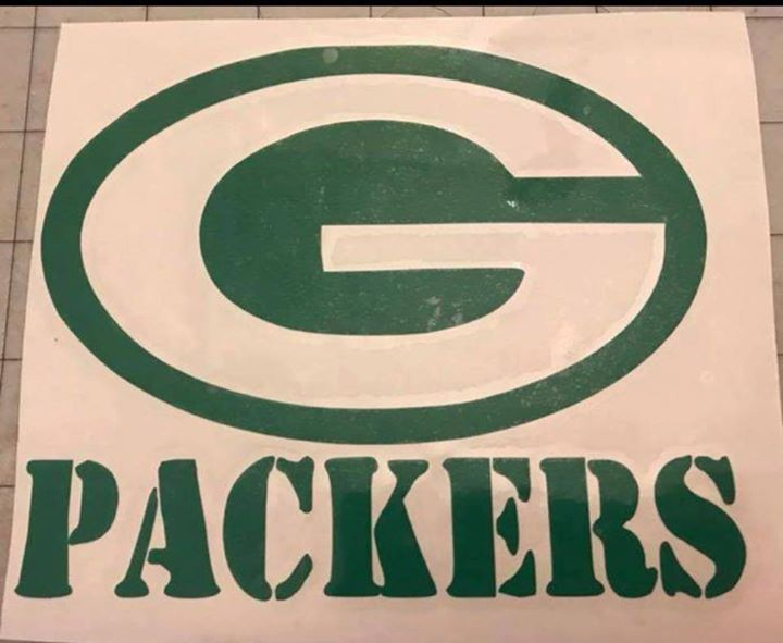 Green bay packers vinyl decal 9x10 inches fast free shipping