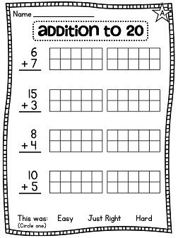 first grade math unit 4 addition to 20 on math worksheets and 4. Black Bedroom Furniture Sets. Home Design Ideas