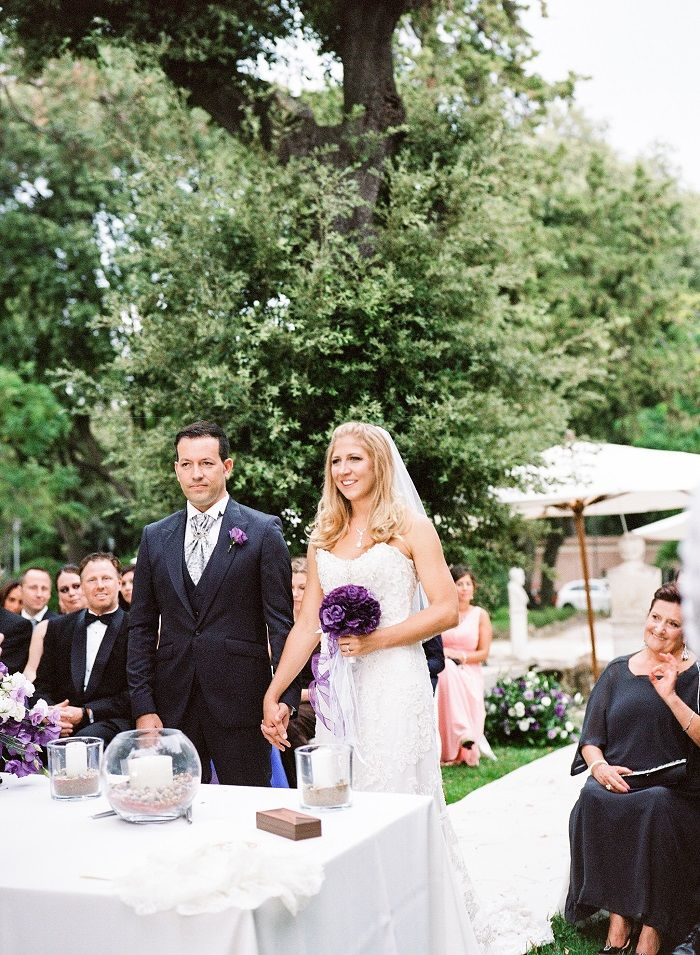 Wedding Ceremony | Romantic Rome Garden wedding | Rochelle Cheever Photography | Fab Mood