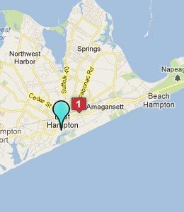Hampton Beach NY Map  East Hampton Hotels Motels  New York NY