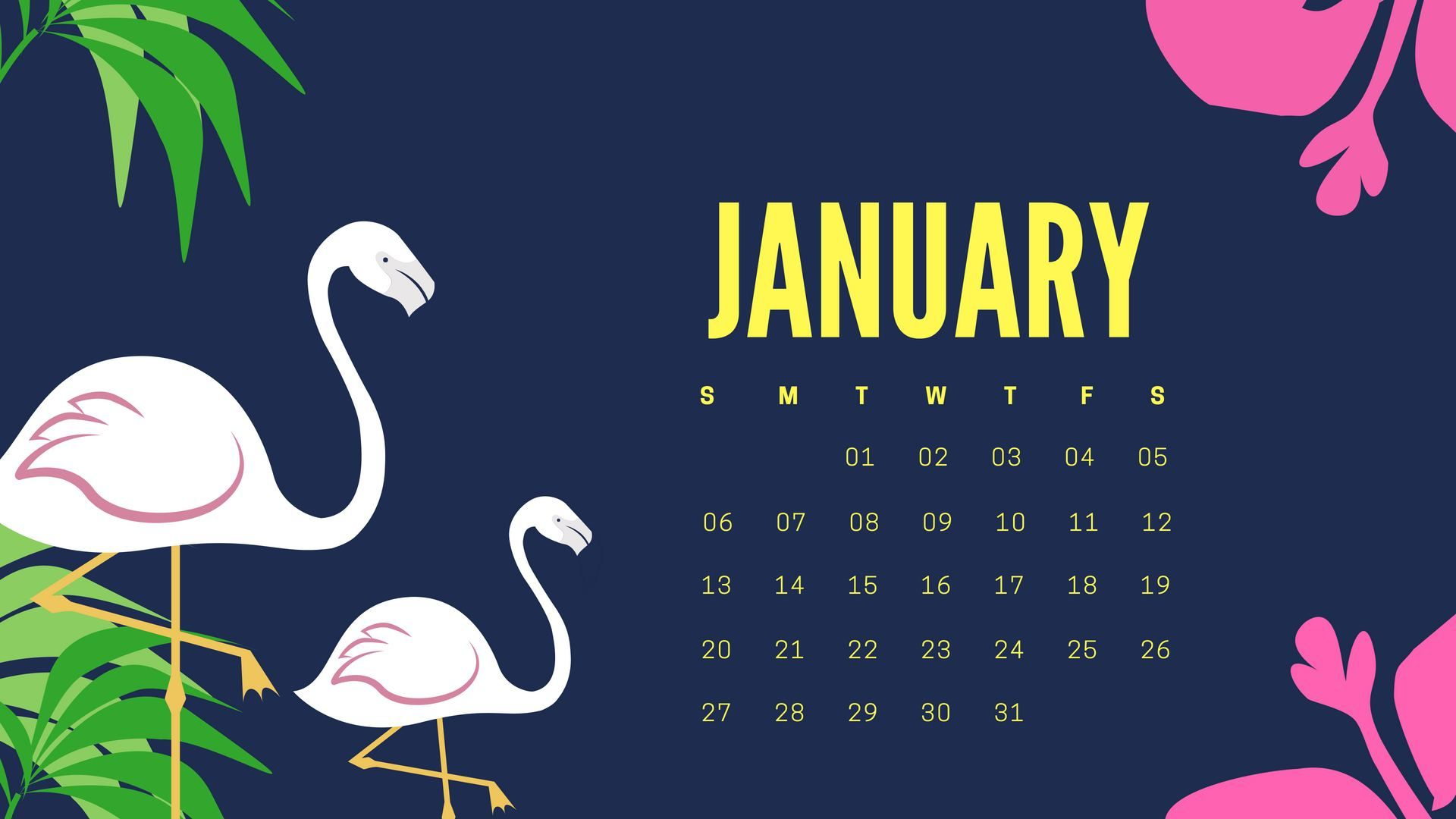 January 2019 Desktop Calendar Wallpaper January 2019 Calendar Desktop Wallpapers Calendar 2019 Printable