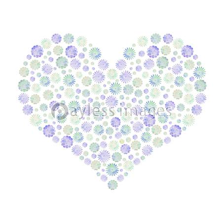 花のハート 紫 水彩の写真 イラスト素材 Xf5775218630 ペイレスイメージズ 水彩 花 紫