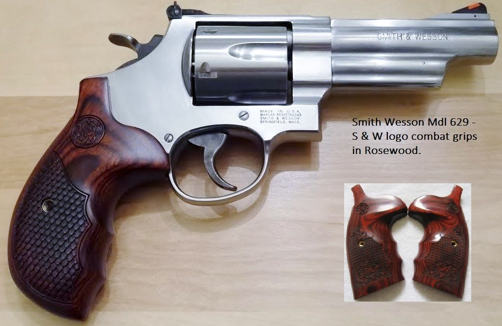 Smith and Wesson Mdl 629 with Round Butt combat grips - Smith and ...