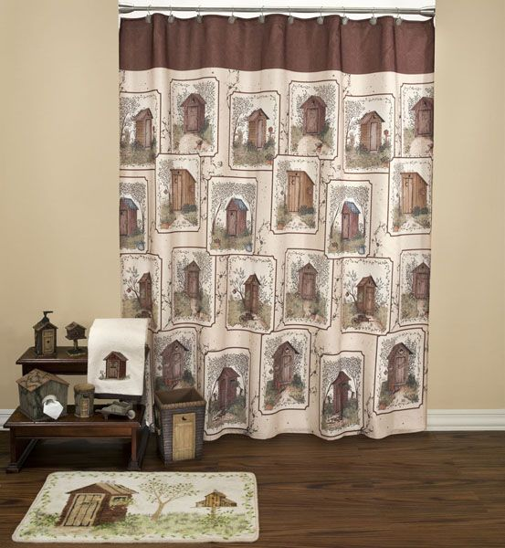 Search Shower Curtain Outhouse Bathroom Colorful Shower Curtain