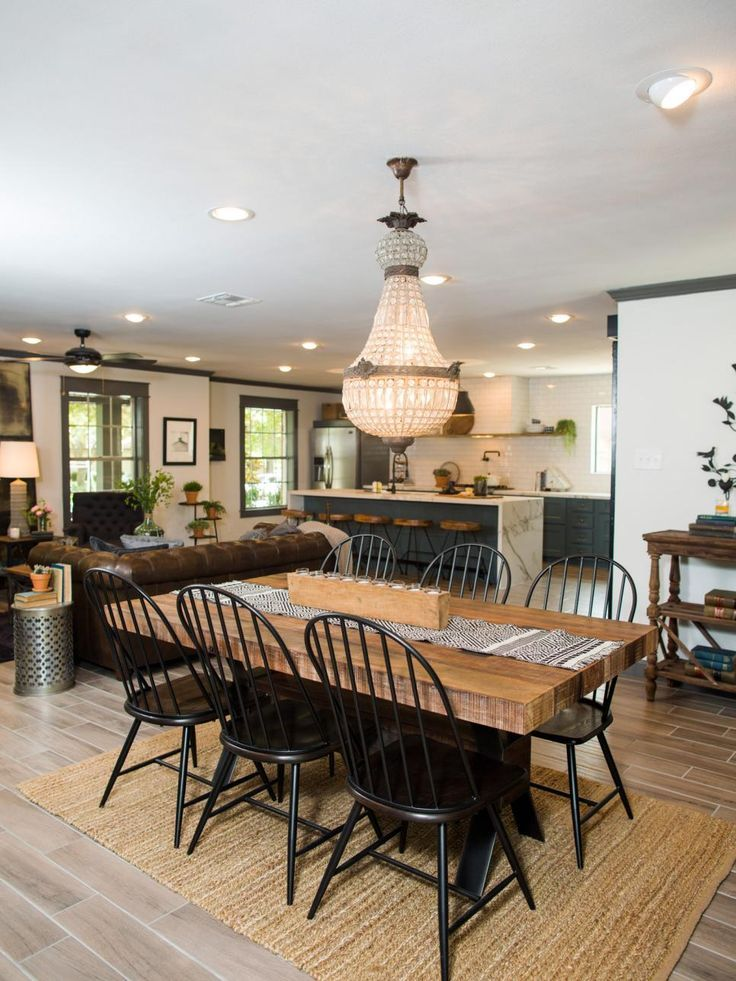 Fixer Upper: Old-World Charm for Newlyweds | Dining Room Decorating ...