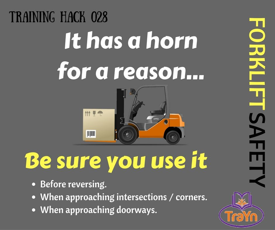 it has a horn for a reason trainwithtrayn training worfsafely