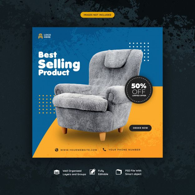 Social Media Post Template For Furniture Sale Social Media Design Inspiration Social Media Design Graphics Social Media Design