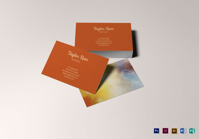 Artist business card template business card designs pinterest artist business card template formats included illustrator indesign ms word photoshop product details 18 artistbusinesscards businesscards colourmoves