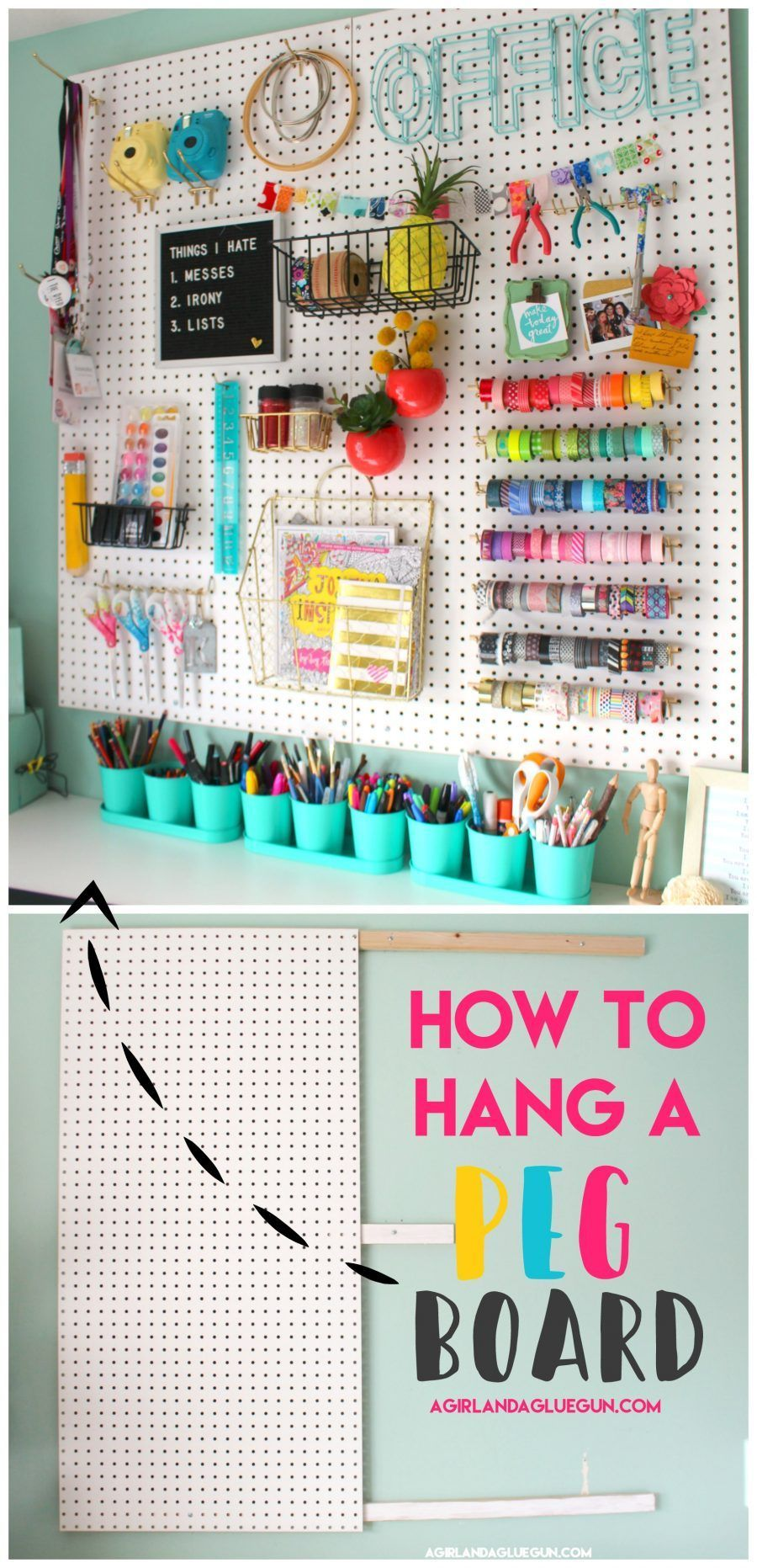Photo of I showed you guys my whole craft room HERE….   I didn't want to wait any lo…