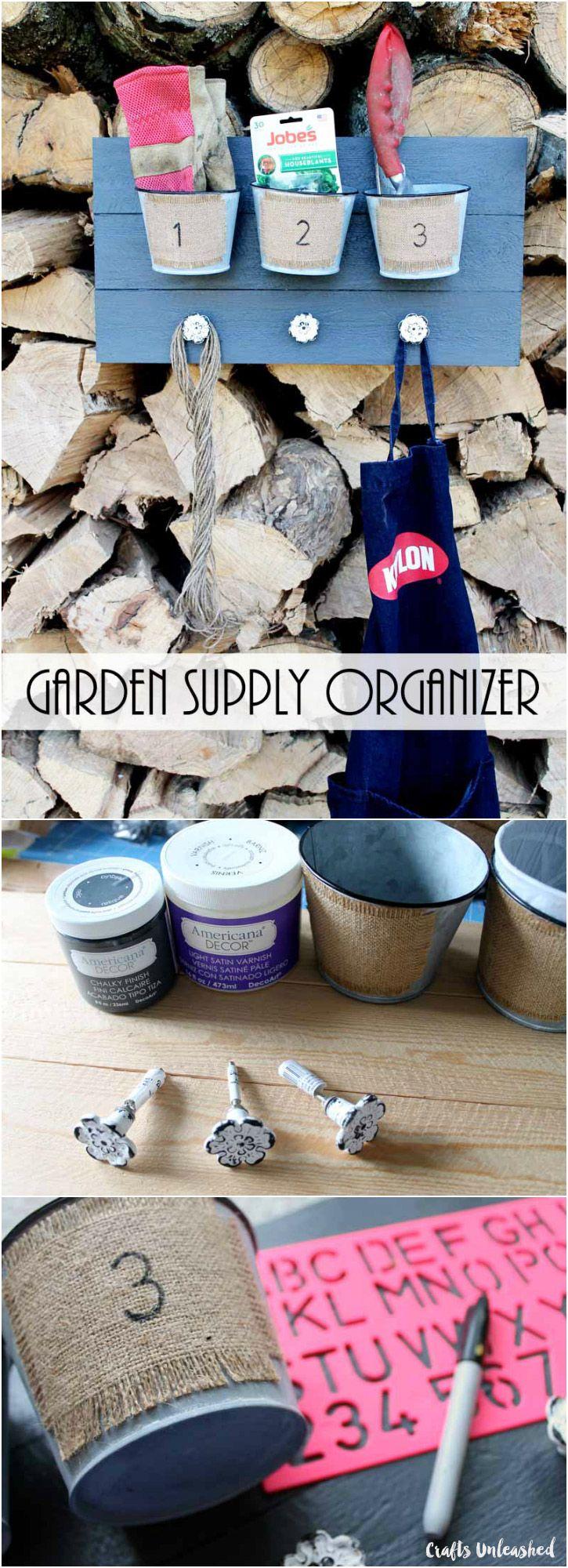 Garden Craft Idea Supply Organizer Consumer Crafts Garden Crafts Crafts Garden Supplies