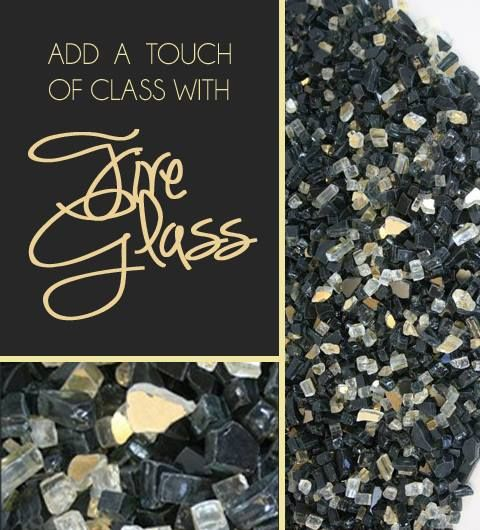 Fire glass is a great way to add a unique touch to your indoor gas