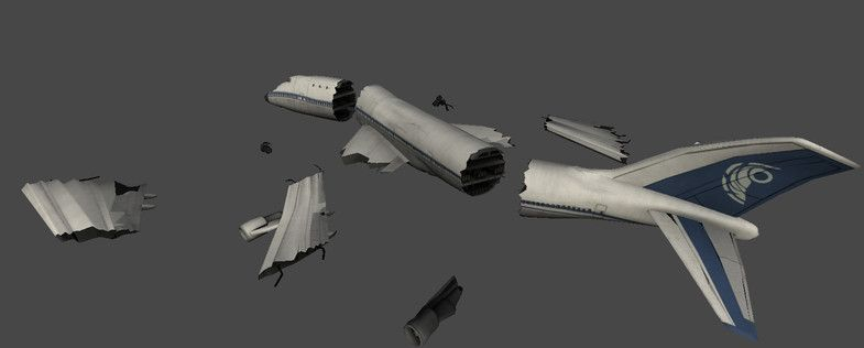 Asset Store - Crashed airplanes and helicopters | Sci-Fi