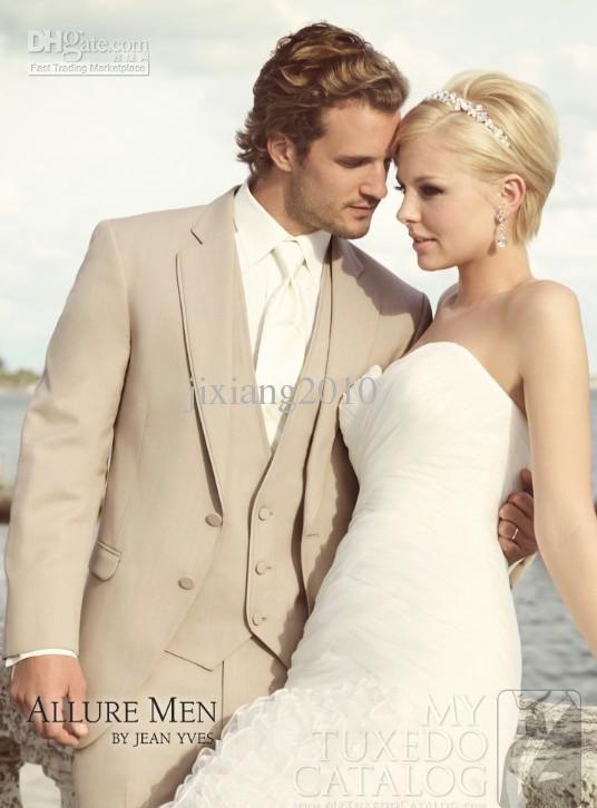 Wholesale High quality champagne Men\'s Wedding Dress Groom Wear ...