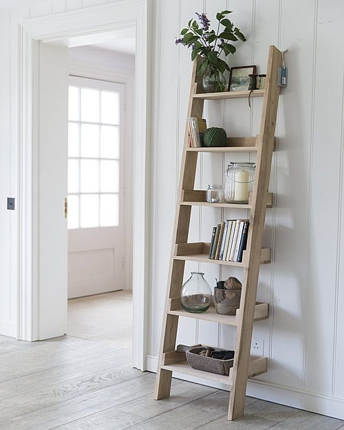 Raw Oak Rustic Shelving Unit