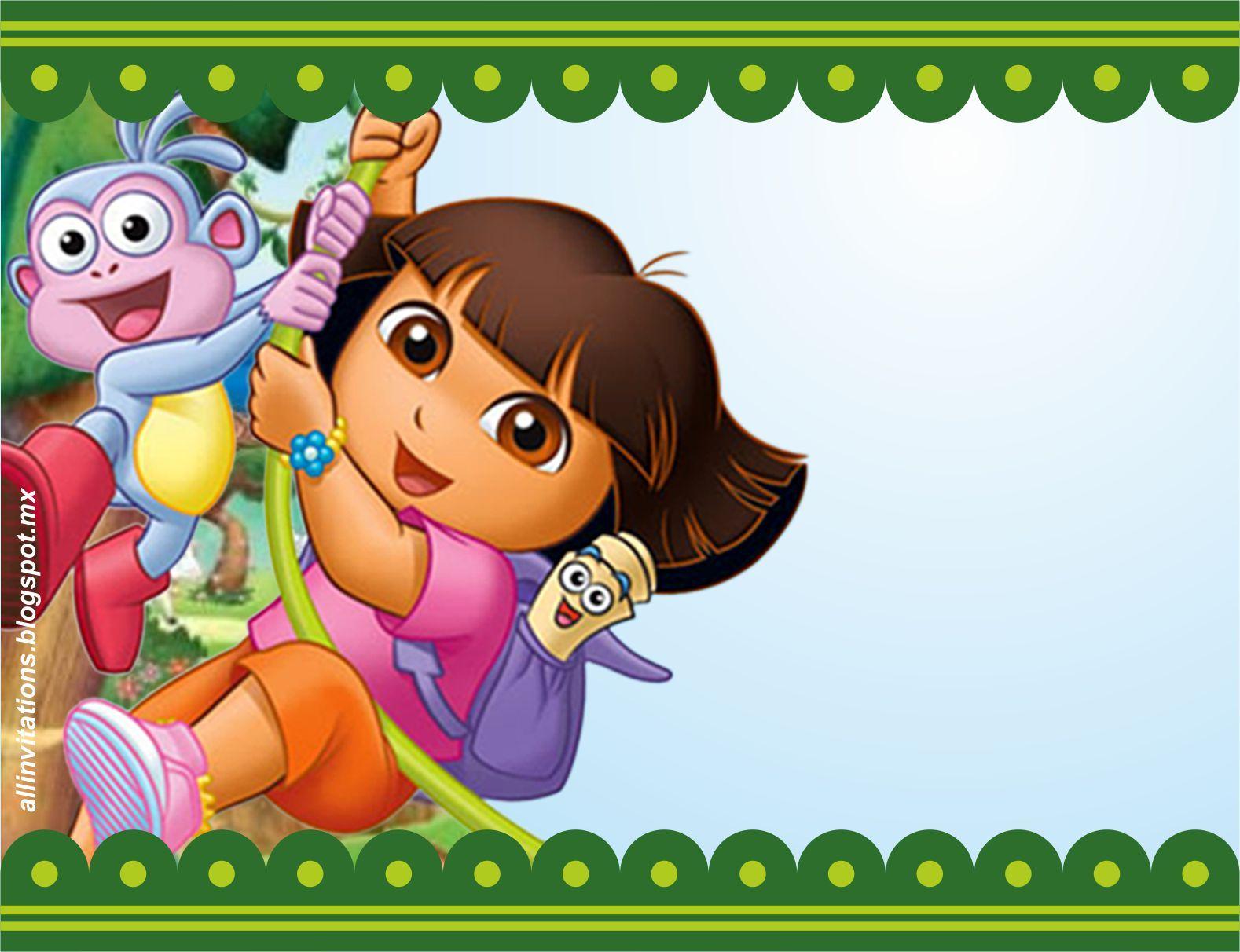 Invitaciones De Cumpleaños De Dora La Exploradora En Hd Gratis Para ...
