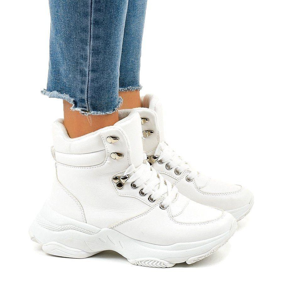 White Women S Insulated Sneakers C 3132 Womens Wedge Sneakers Sneakers Womens Wedges
