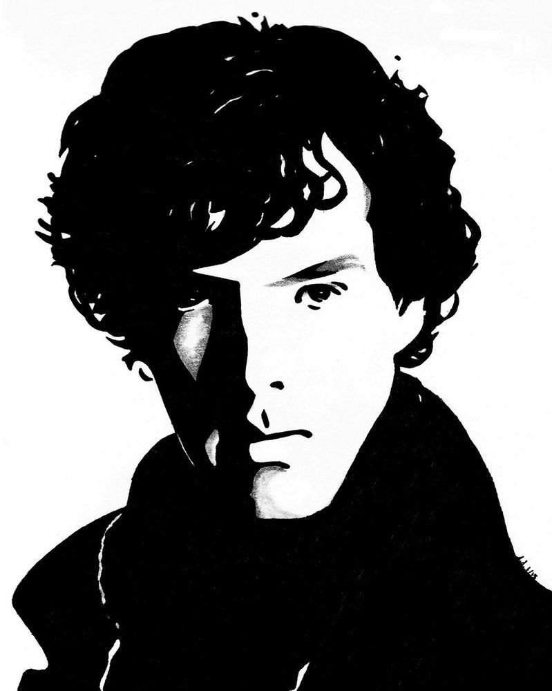 sherlock holmes silhouette  Google Search  wall art  Pinterest