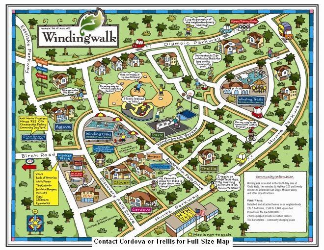 Super FUN map Map is of Windingwalk in Chula Vista San Diego