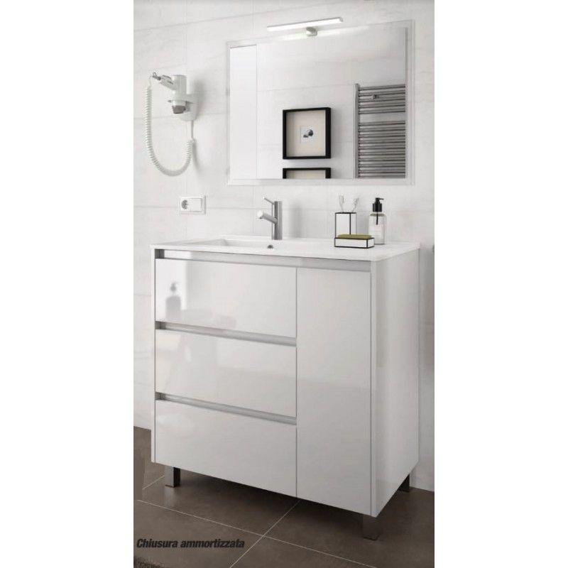 Badezimmer Schrank Mit Spiegel Des Images In 2020 Bathroom Vanity Vanity Single Vanity