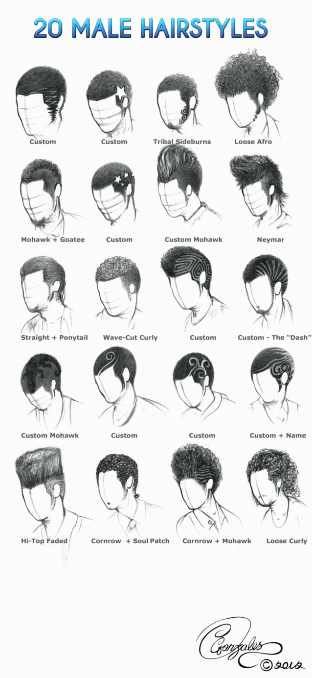 Helpyoudraw 50 Male Hairstyles Revampedbyorangenuke 20 Male Hairstylesbygunzy1 Male Hair And Lightingbymoni1 Curly Hair Drawing How To Draw Hair Manga Hair