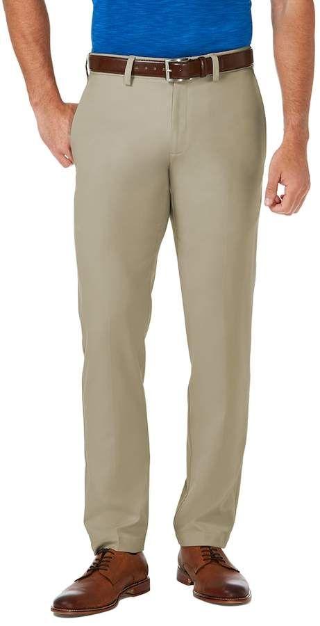 ada4039b8d3 Big   Tall Haggar® Cool 18® PRO Slim-Fit Wrinkle-Free Flat-Front Super Flex  Waist Pants