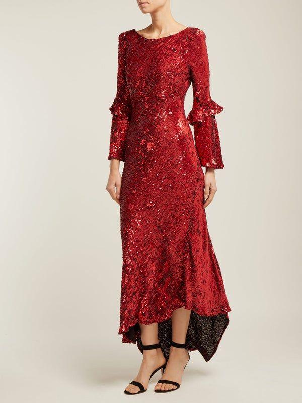 Maria Lucia Hohan Polina asymmetric sequinned dress