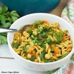 Chickpea Noodle Soup square #chickpeanoodlesoup Chickpea Noodle Soup square #chickpeanoodlesoup