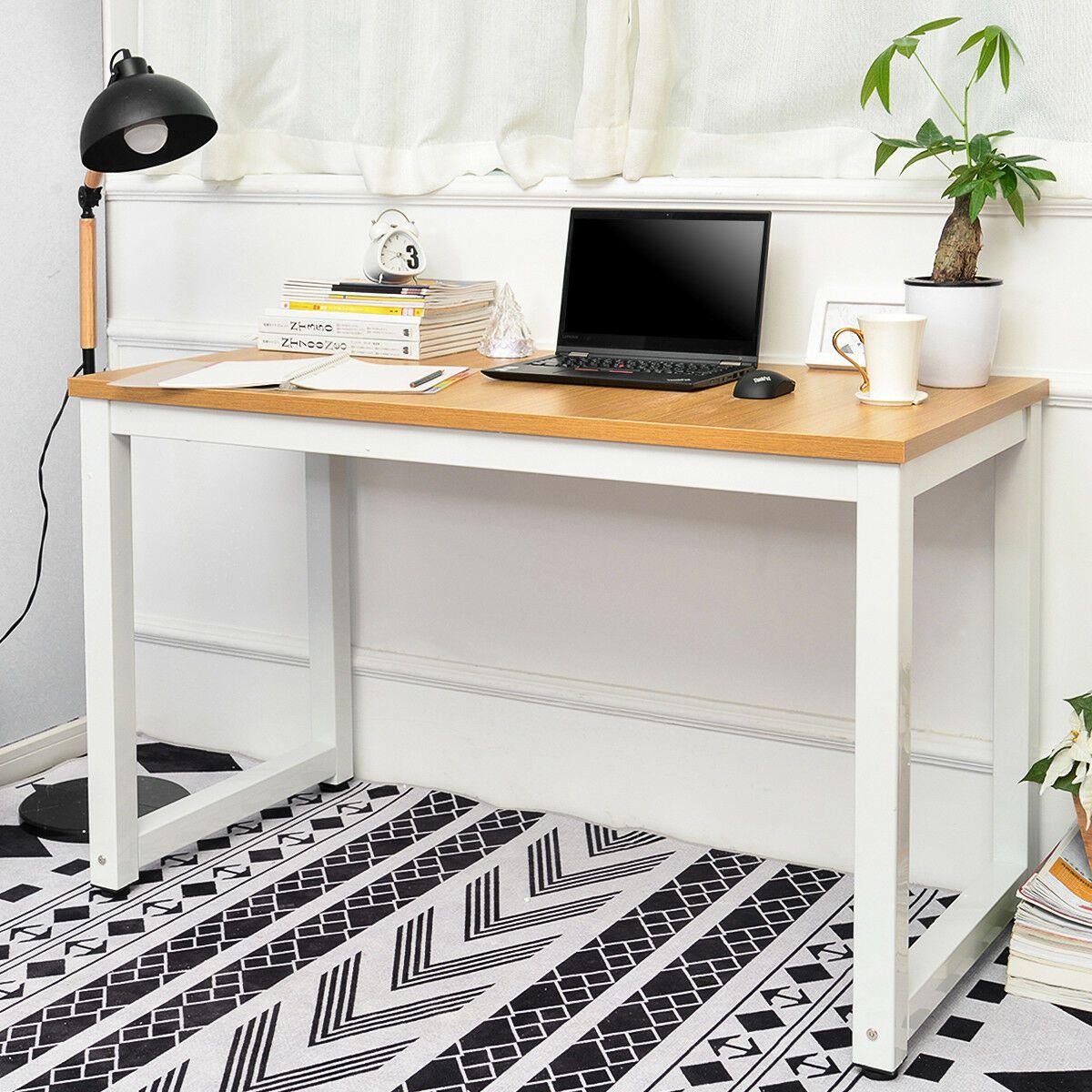 Details About Computer Desk Office Study Desk Computer Pc Laptop Table Workstation 120 X 60 Cm In 2020 Office Desk Simple Computer Desk Computer Desks For Home