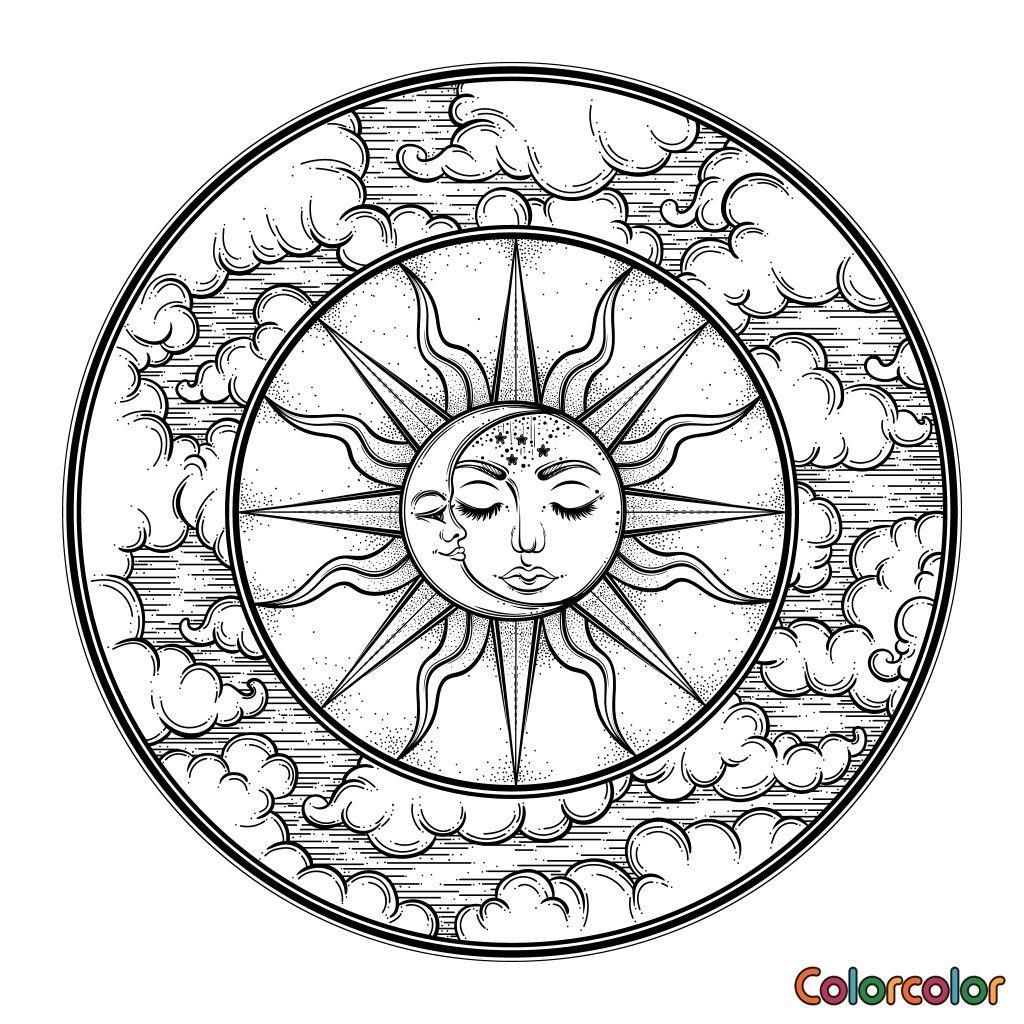 Pin by Bhuvan on Doodles,Mandala&Zentangle Moon coloring