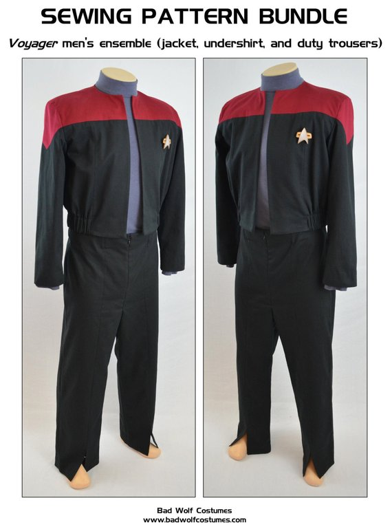 Star Trek The Next Generation Womens Red Command Deluxe Uniform Size X-SMALL NEW