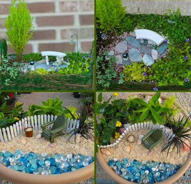 8 réaliser un joli mini jardin | Jardin | Pinterest | Mini jardins ...