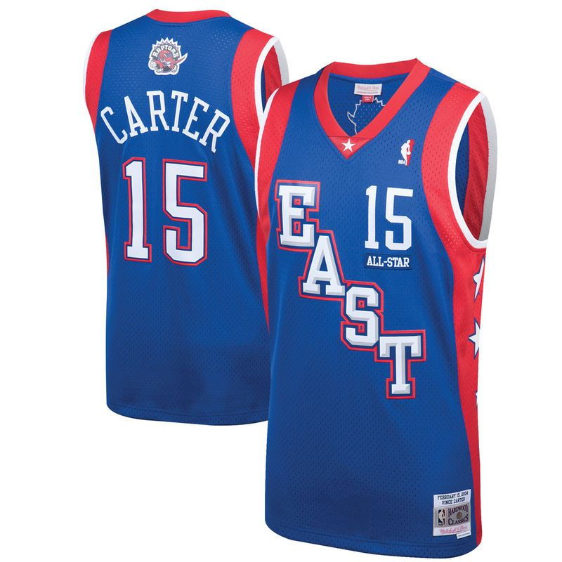 a25126808df6 Vince Carter Eastern Conference Mitchell   Ness 2004 All-Star Hardwood  Classics Swingman Jersey – Blue