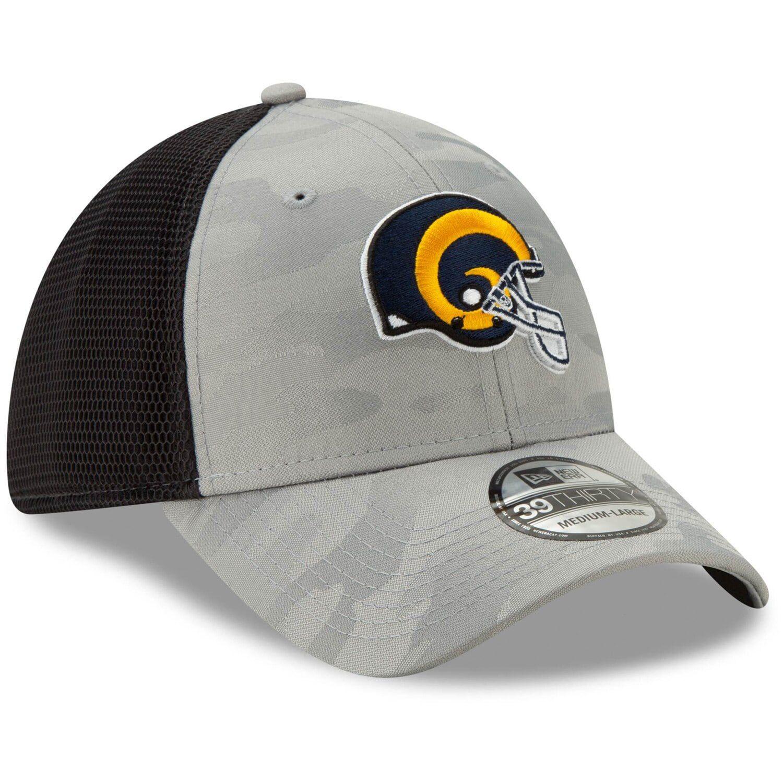 Men's New Era Gray Los Angeles Rams Camo Front Neo Helmet
