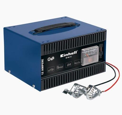 Einhell BT-BC 12 Akü Şarj Cİhazı  Art. Nr: 1056700 Einhell BT-BC 12 Akü Şarj Cihazı 12V aküler için uygun güçlü ve mobil bir atölye cihazıdır. 200 Ah akü kapasitesine kadar kullanılabilir.