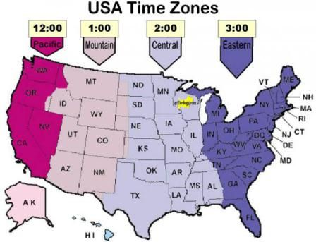 Daylight Savings Time 2016 | USA Time Zones | Time zones, Time zone ...