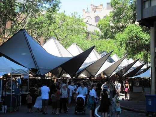 Canopies covering the outdoor market stalls. - SYDNEY AUSTRALIA & Canopies covering the outdoor market stalls. - SYDNEY AUSTRALIA ...