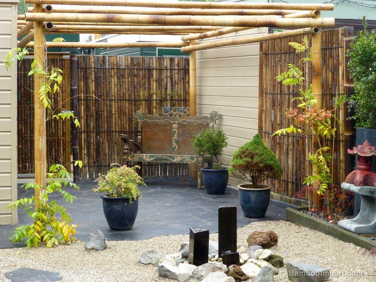Bamboo Pergola Moso 3 x 4 m (With images) Pergola