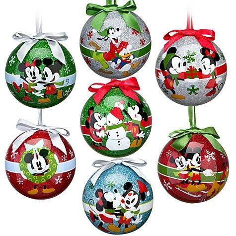Disney Share the Magic Mickey Gang Christmas Ornament Set 7Pc