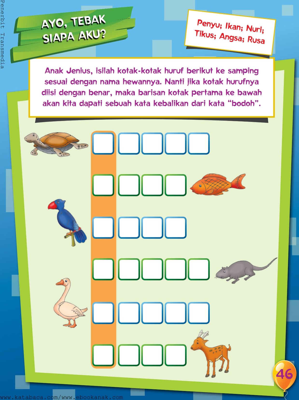 Hewan Dari Huruf F : hewan, huruf, Hewan, Dengan, Awalan, Huruf