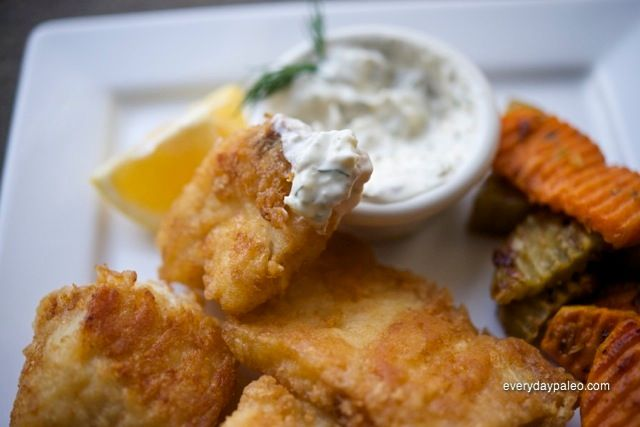Fishandchips paleo recipes pinterest battered fish for Low carb fish batter