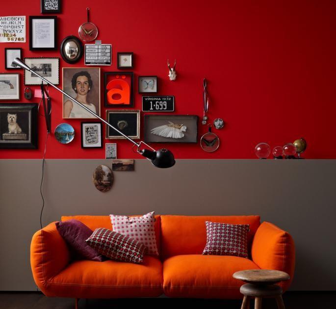 Wandfarbe - Wohnideen Mit Eine Wand In Rot In 2019