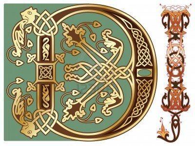 capitals and initials of the ancient manuscripts Stock Photo - 6571561