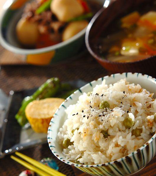 「豆ご飯」の献立・レシピ - 【E・レシピ】料理のプロが作る簡単レシピ/2015.03.28公開の献立です。