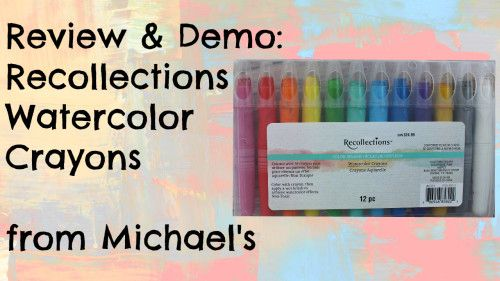 Review Of Recollections Color Splash Watercolor Crayons